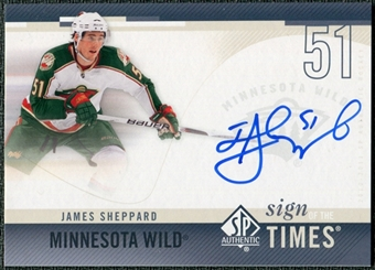 2010/11 Upper Deck SP Authentic Sign of the Times #SOTSH James Sheppard Autograph