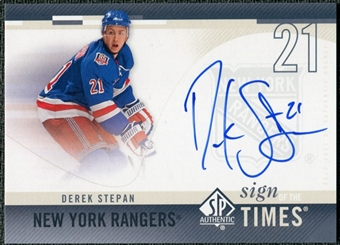 2010/11 Upper Deck SP Authentic Sign of the Times #SOTSN Derek Stepan Autograph