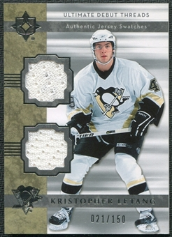 2006/07 Upper Deck Ultimate Collection Ultimate Debut Threads Jerseys #DJKL Kristopher Letang 21/150