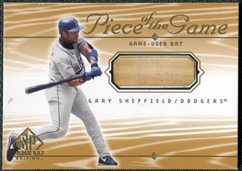 2001 Upper Deck SP Game Bat Edition Piece of the Game #GS Gary Sheffield
