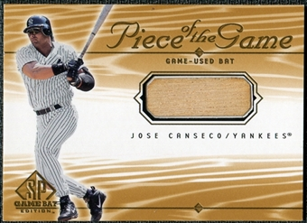 2001 Upper Deck SP Game Bat Edition Piece of the Game #JC Jose Canseco