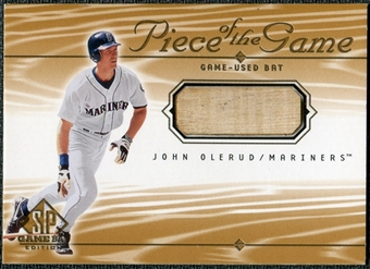 2001 Upper Deck SP Game Bat Edition Piece of the Game #JO John Olerud