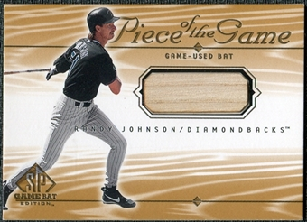2001 Upper Deck SP Game Bat Edition Piece of the Game #RJ Randy Johnson