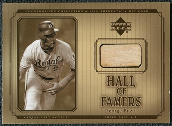 2001 Upper Deck Hall of Famers Game Bat #BGB George Brett DP