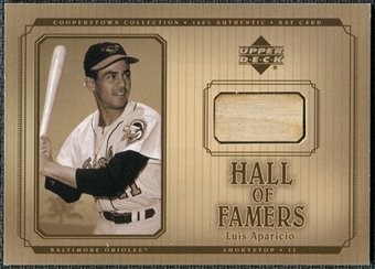 2001 Upper Deck Hall of Famers Game Bat #BLA Luis Aparicio