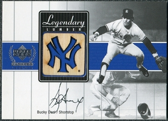 2000 Upper Deck Yankees Legends Legendary Lumber Gold #BDLL Bucky Dent