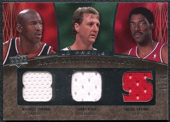 2007/08 Upper Deck Premier Rare Remnants Triple #JEB Michael Jordan Larry Bird Julius Erving 32/99