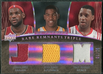 2007/08 Upper Deck Premier Rare Remnants Triple Silver Spectrum #JDM James Durant McGrady /25