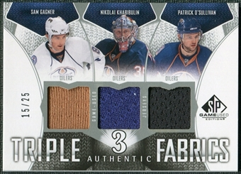 2009/10 Upper Deck SP Game Used Authentic Fabrics Triples #AF3KOG Khabibulin O'Sullivan Gagner 15/25