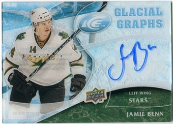 2009/10 Upper Deck Ice Glacial Graphs #GGBE Jamie Benn Autograph