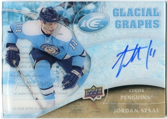 2009/10 Upper Deck Ice Glacial Graphs #GGJS Jordan Staal Autograph