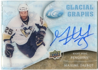 2009/10 Upper Deck Ice Glacial Graphs #GGMT Maxime Talbot Autograph