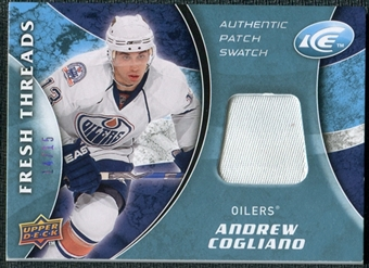 2009/10 Upper Deck Ice Fresh Threads Patches #FTAC Andrew Cogliano 14/15