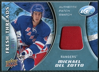 2009/10 Upper Deck Ice Fresh Threads Patches #FTMD Michael Del Zotto /15
