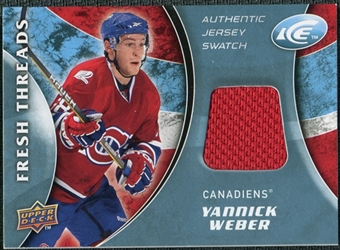 2009/10 Upper Deck Ice Fresh Threads #FTYW Yannick Weber