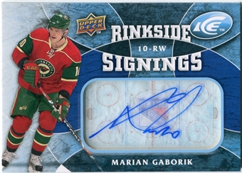 2009/10 Upper Deck Ice Rinkside Signings #RSMG Marian Gaborik Autograph