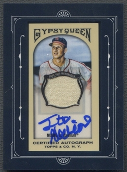 2011 Topps Gypsy Queen #SM Stan Musial Framed Mini Relic Auto #12/25