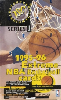1995/96 Topps Stadium Club Series 1 Basketball Hobby Box