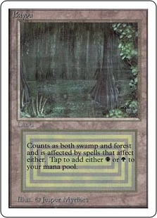 Magic the Gathering Unlimited Single Bayou - MODERATE PLAY (MP)