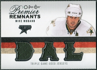 2009/10 Upper Deck OPC Premier Remnants Triples #PRTMO Mike Modano /35