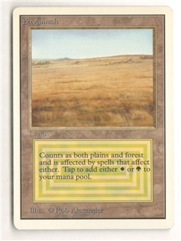 Magic the Gathering Unlimited Single Savannah - SLIGHT PLAY (SP)