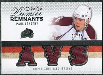 2009/10 Upper Deck OPC Premier Remnants Triples #PRTPS Paul Stastny /35