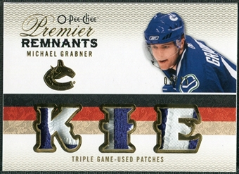 2009/10 Upper Deck OPC Premier Remnants Triples Patches #PRTGR Michael Grabner /25