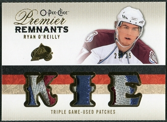 2009/10 Upper Deck OPC Premier Remnants Triples Patches #PRTRO Ryan O'Reilly /25