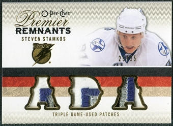 2009/10 Upper Deck OPC Premier Remnants Triples Patches #PRTSS Steven Stamkos /25