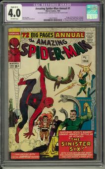 Amazing Spider-Man Annual #1 CGC 4.0 (OW) *1362215010* Restored