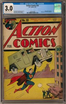 Action Comics #33 CGC 3.0 (C-OW) *1362227003*