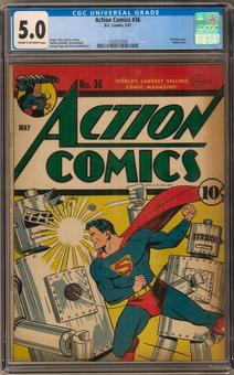 Action Comics #36 CGC 5.0 (C-OW) *1362227004*