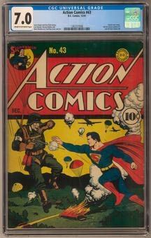 Action Comics #43 CGC 7.0 (C-OW) *1362227006*