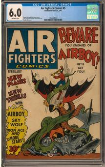Air Fighters Comics #5 CGC 6.0 (OW) *1362228002*