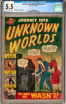 Journey Into Unknown Worlds #7 CGC 5.5 (C-OW) *1362235001*