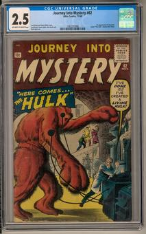 Journey Into Mystery #62 CGC 2.5 (OW-W) *1362237006*