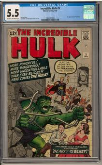 Incredible Hulk #5 CGC 5.5 (C-OW) *1362241009*