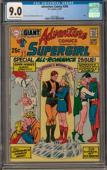 Adventure Comics #390 CGC 9.0 (OW-W) *1362278002*