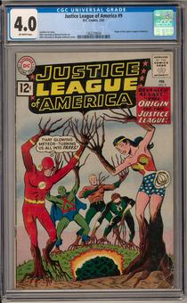 Justice League of America #9 CGC 4.0 (OW) *1362278004*