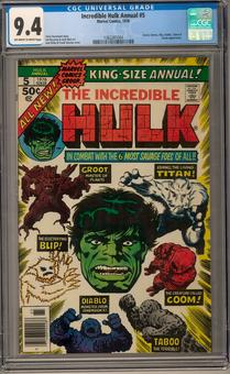 Incredible Hulk Annual #5 CGC 9.4 (OW-W) *1362281004*