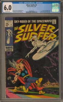 Silver Surfer #4 CGC 6.0 (OW) *1362285010*