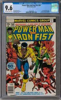Power Man and Iron Fist #50 CGC 9.6 (OW-W) *1362297004*