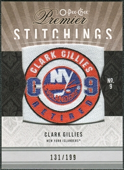 2009/10 Upper Deck OPC Premier Stitchings #PSCG Clark Gillies /199
