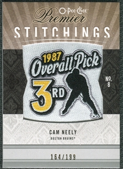 2009/10 Upper Deck OPC Premier Stitchings #PSCN Cam Neely /199