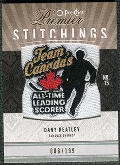 2009/10 Upper Deck OPC Premier Stitchings #PSDH Dany Heatley /199