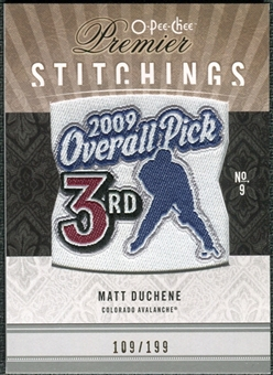 2009/10 Upper Deck OPC Premier Stitchings #PSMD Matt Duchene /199