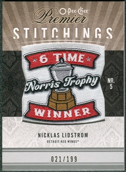 2009/10 Upper Deck OPC Premier Stitchings #PSNL Nicklas Lidstrom /199