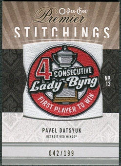 2009/10 Upper Deck OPC Premier Stitchings #PSPD Pavel Datsyuk /199