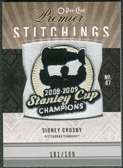 2009/10 Upper Deck OPC Premier Stitchings #PSSC Sidney Crosby /199
