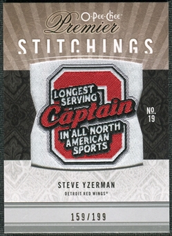 2009/10 Upper Deck OPC Premier Stitchings #PSSY Steve Yzerman /199